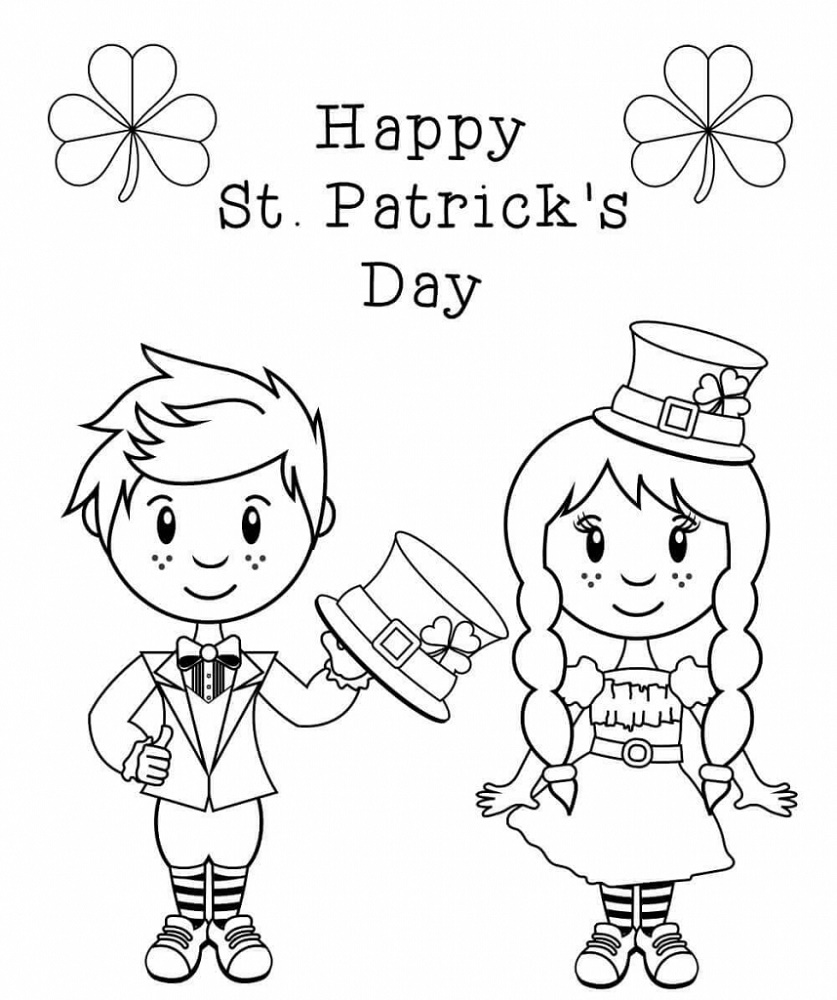 St Patrick's Day Coloring Pages Printable