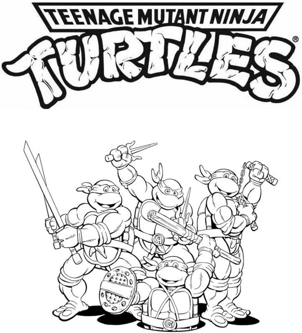 Teenage Mutant Ninja Turtle Coloring Sheets