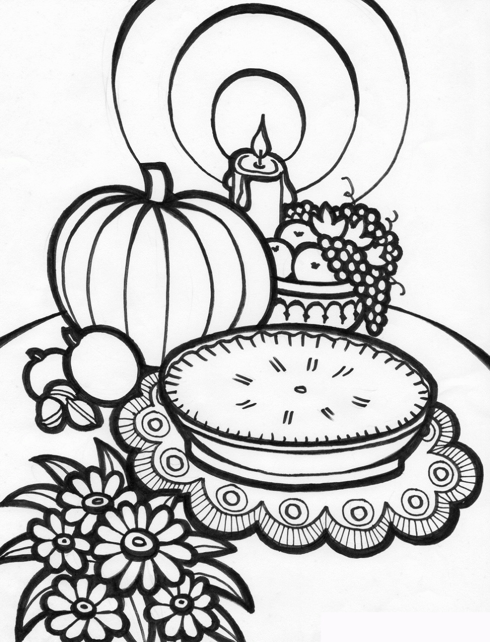 Thanksgiving Coloring Sheets Printable