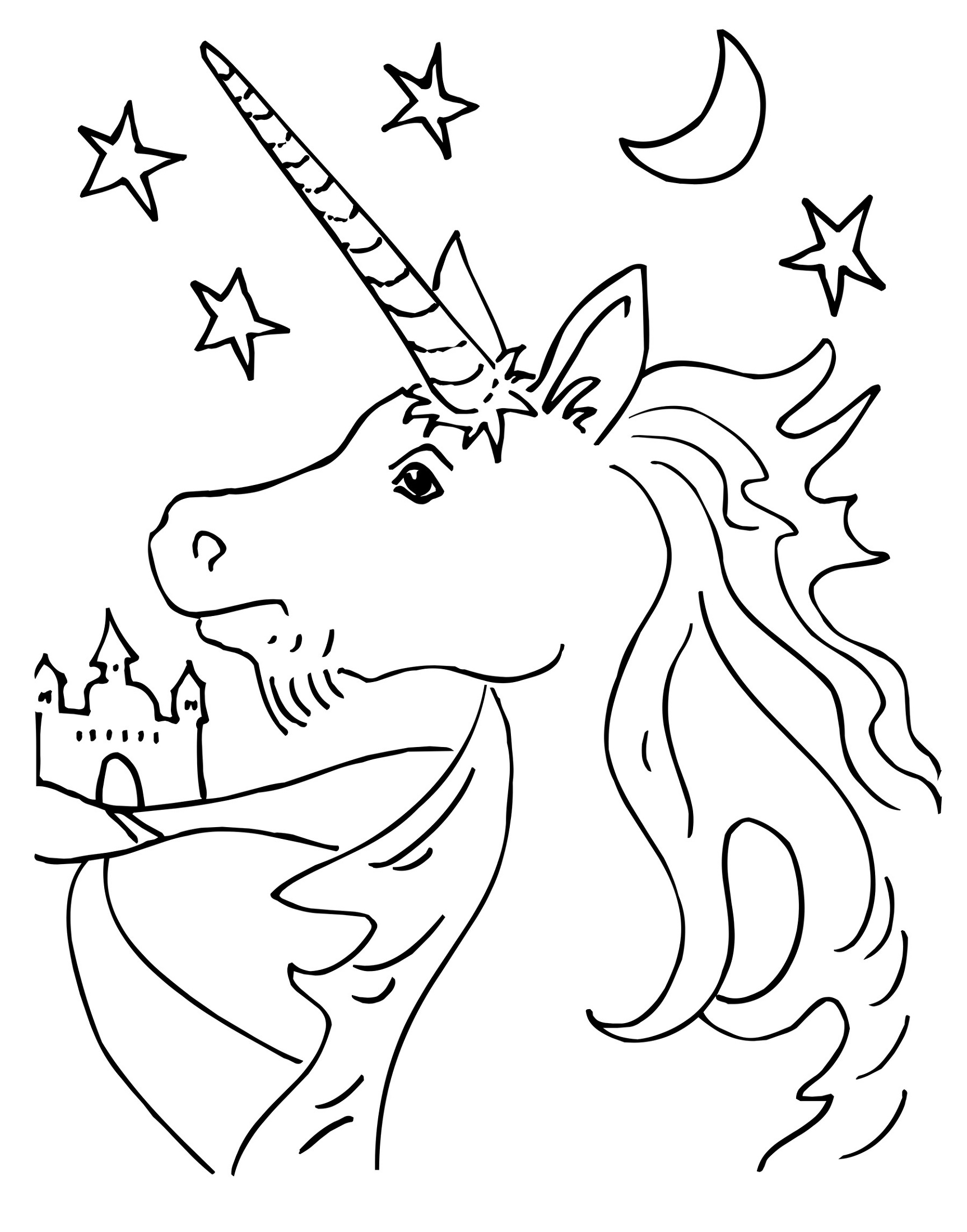 Unicorn Coloring Printable