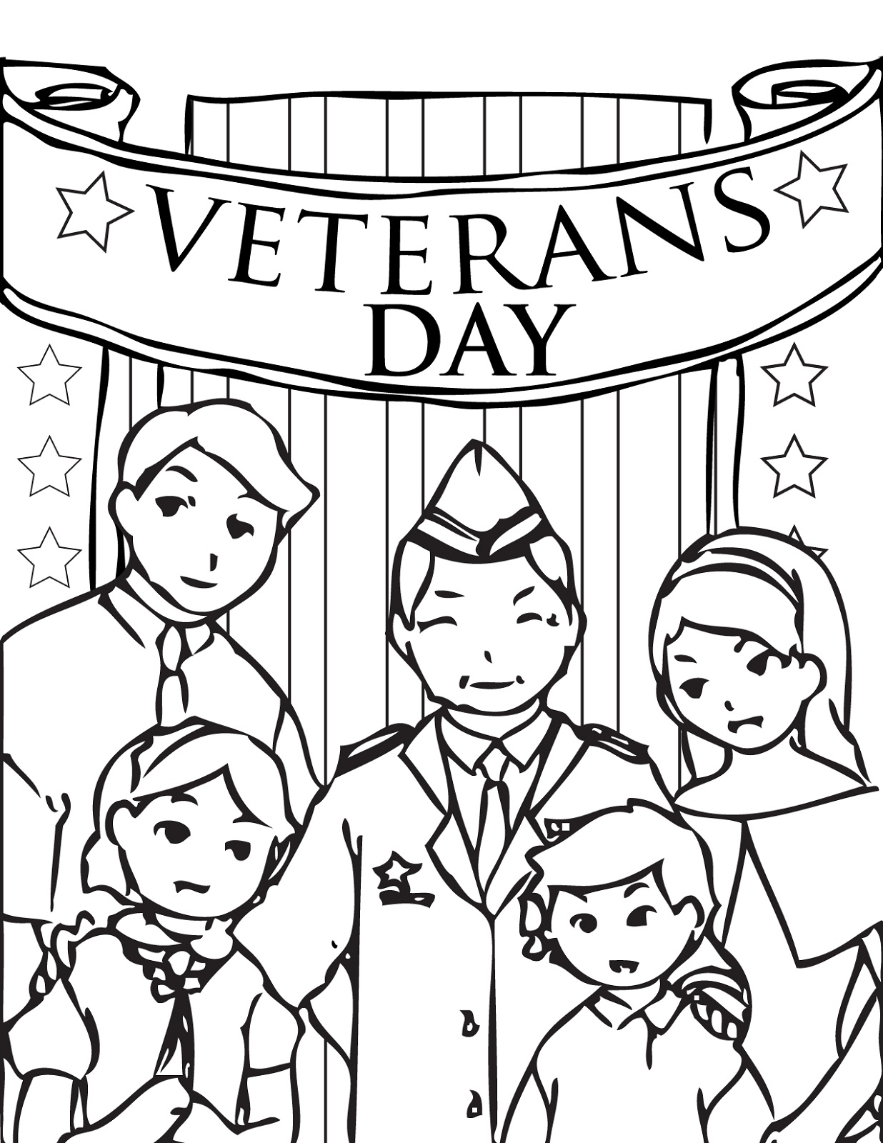 Veterans Day Coloring Pages To Print