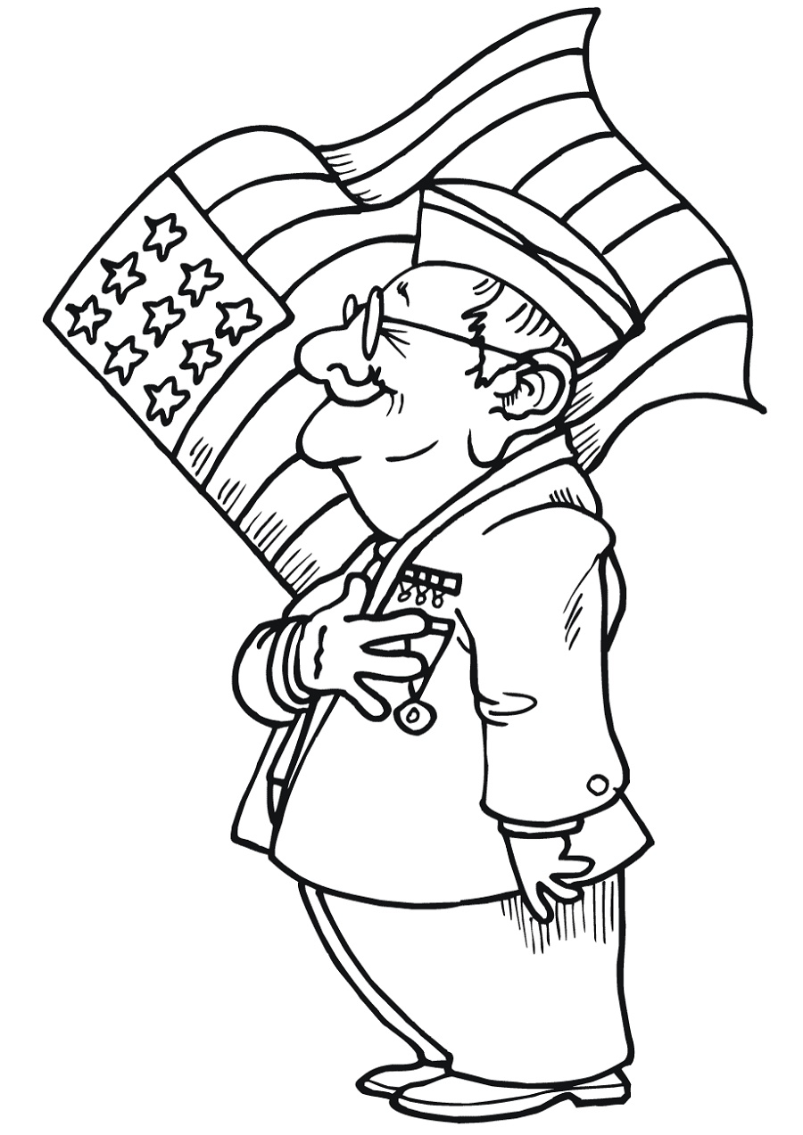 Veterans Day Coloring Pages US