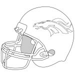 Broncos Coloring Pages Helmet