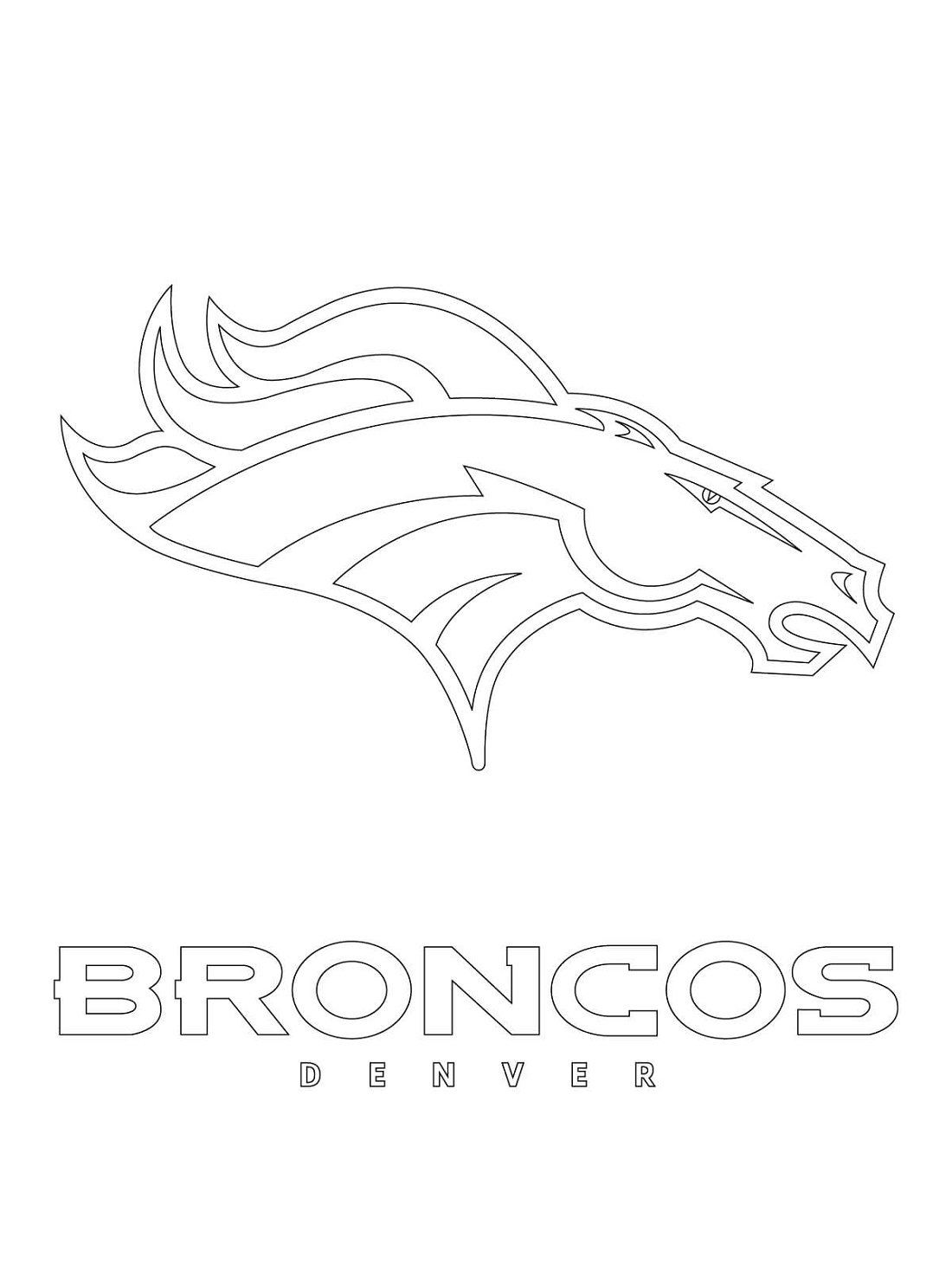 Broncos Coloring Pages Logo