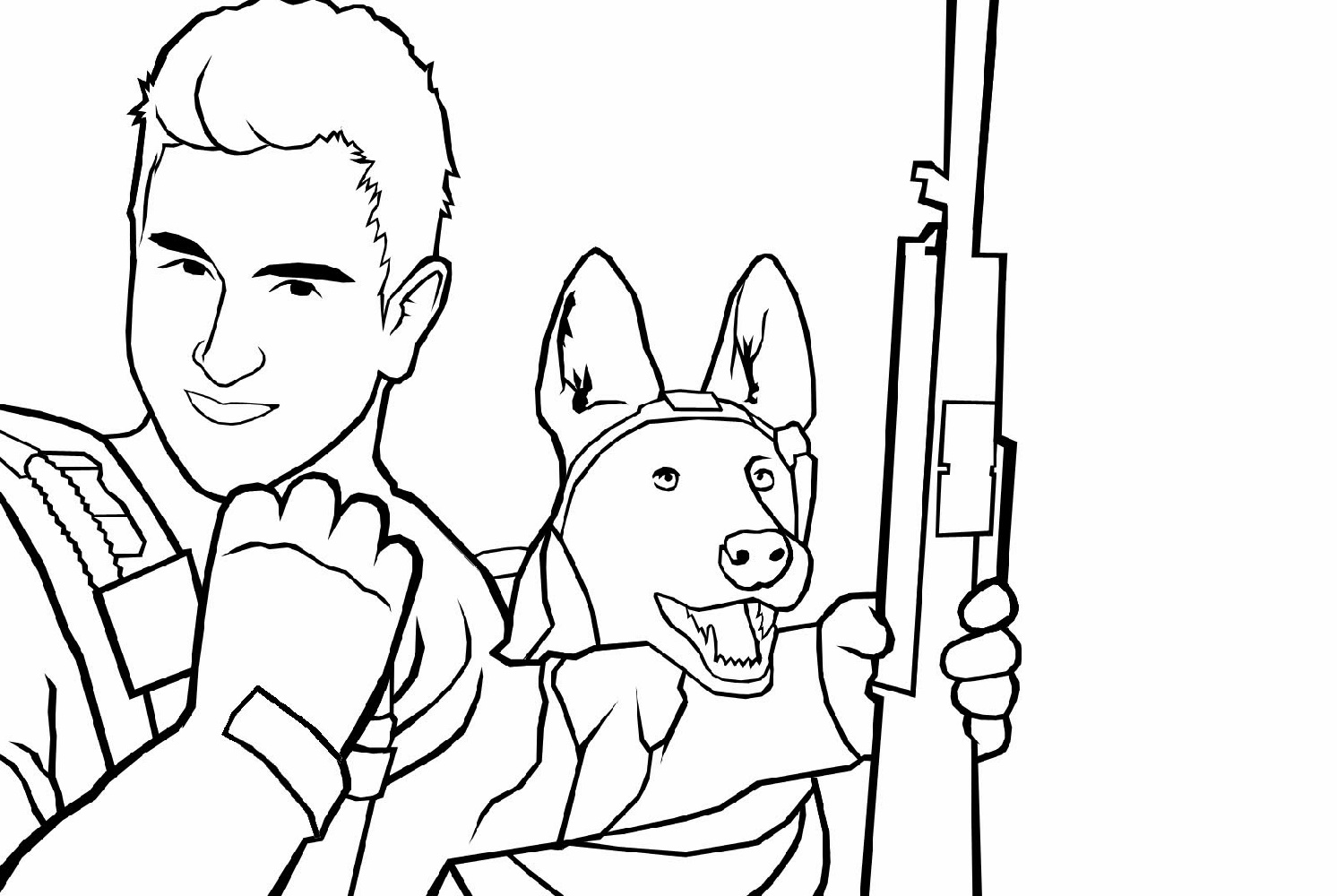 Call Of Duty Coloring Pages Printable