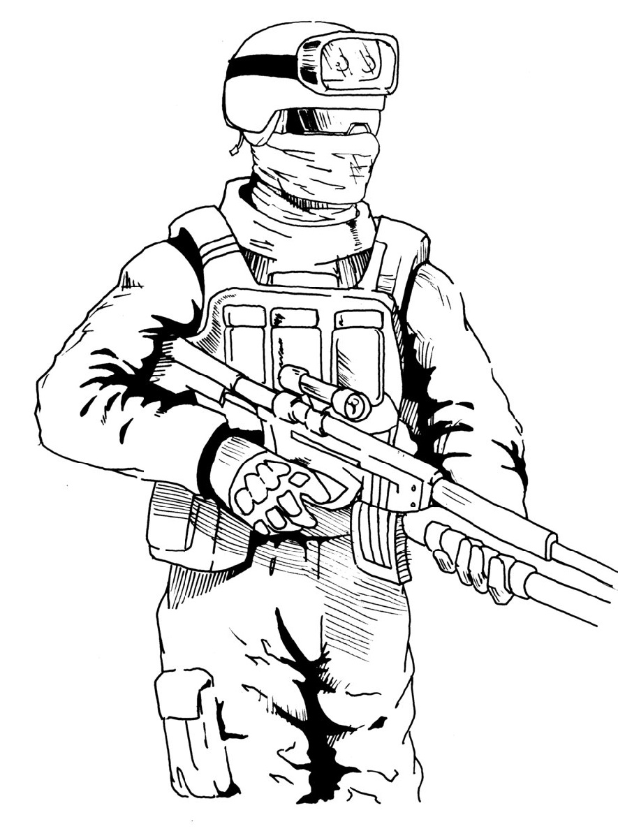 Call Of Duty Coloring Pages To Print