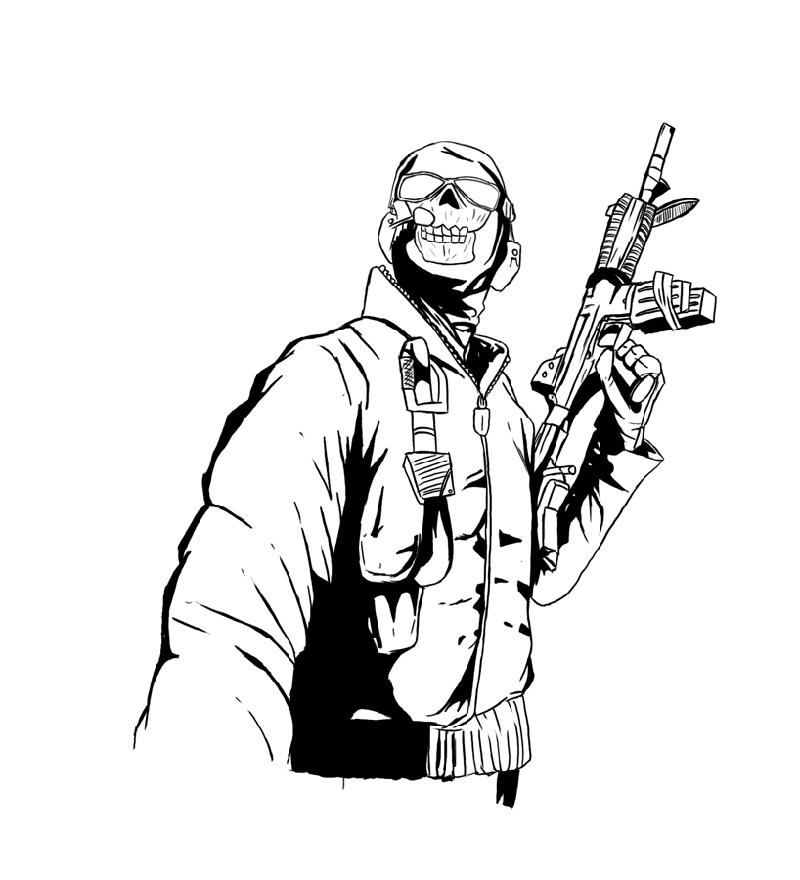 Call Of Duty Coloring Pages Warfare