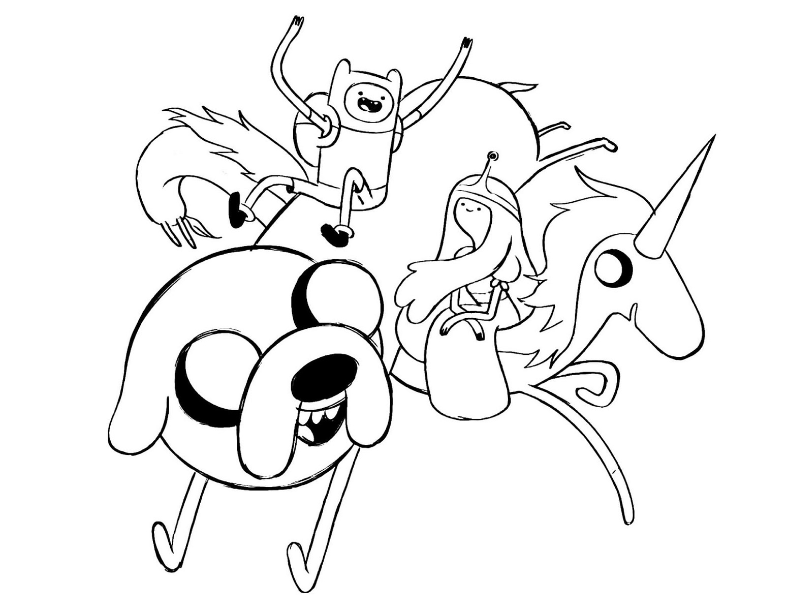 Cartoon Network Coloring Pages Adventure Time