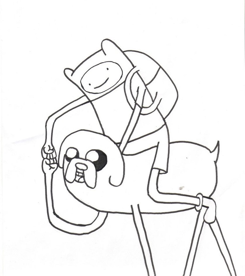 Cartoon Network Coloring Pages Finn and Jake