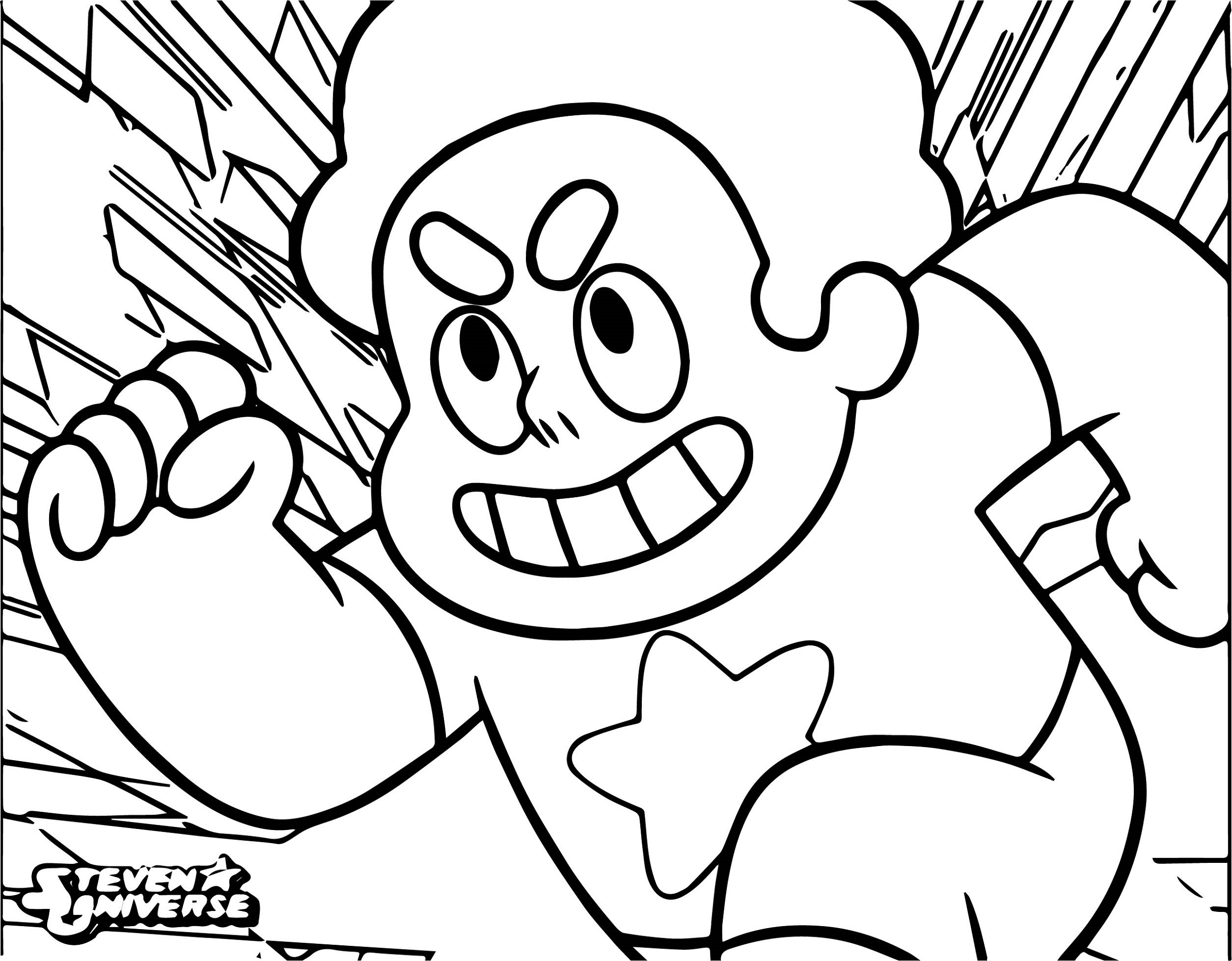 Cartoon Network Coloring Pages Steven Universe