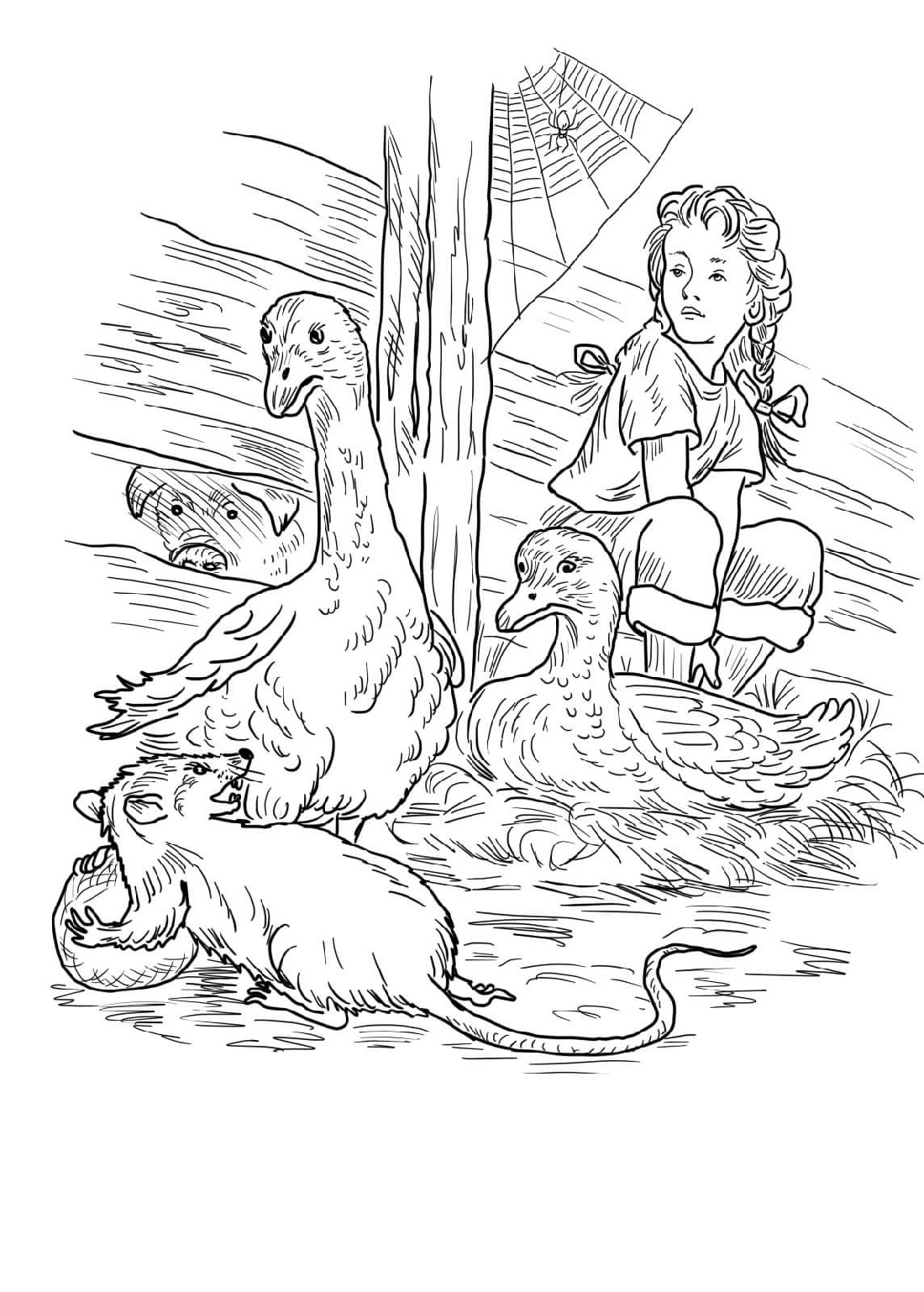 Charlotte's Web Coloring Pages And Friends
