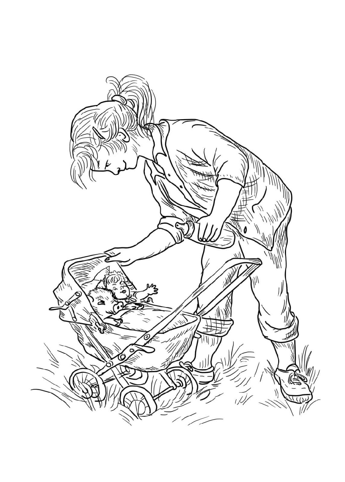 Charlotte's Web Coloring Pages Fern's Babies