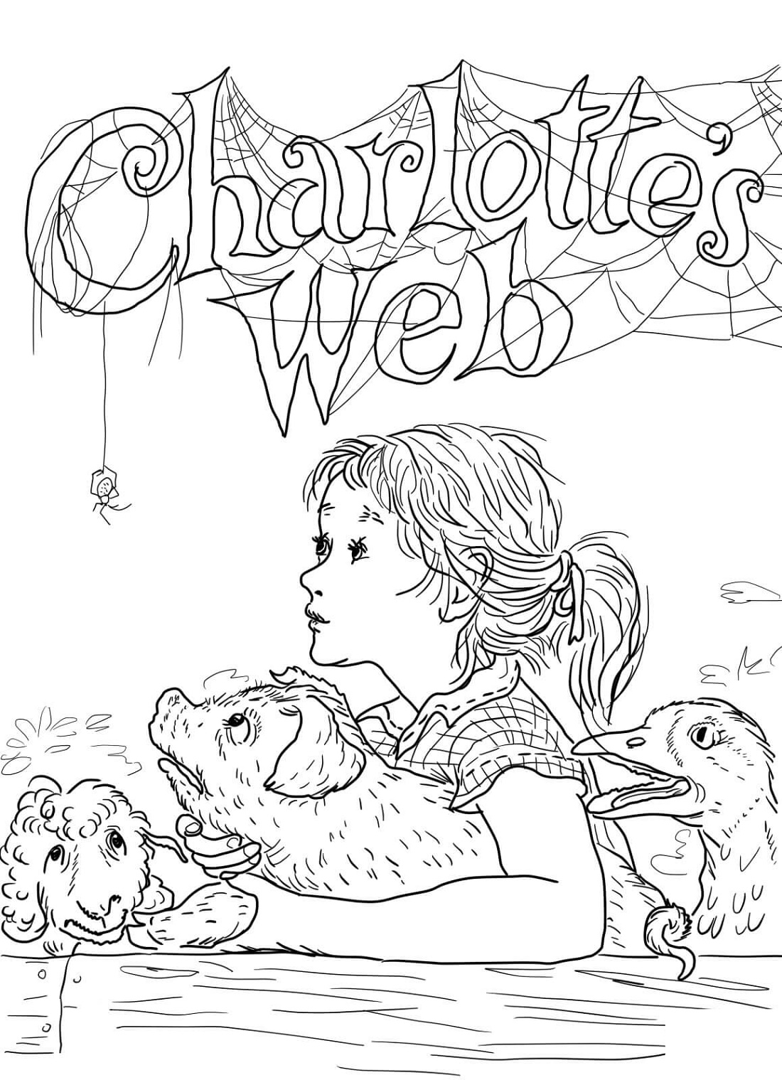 Charlotte's Web Coloring Pages Free