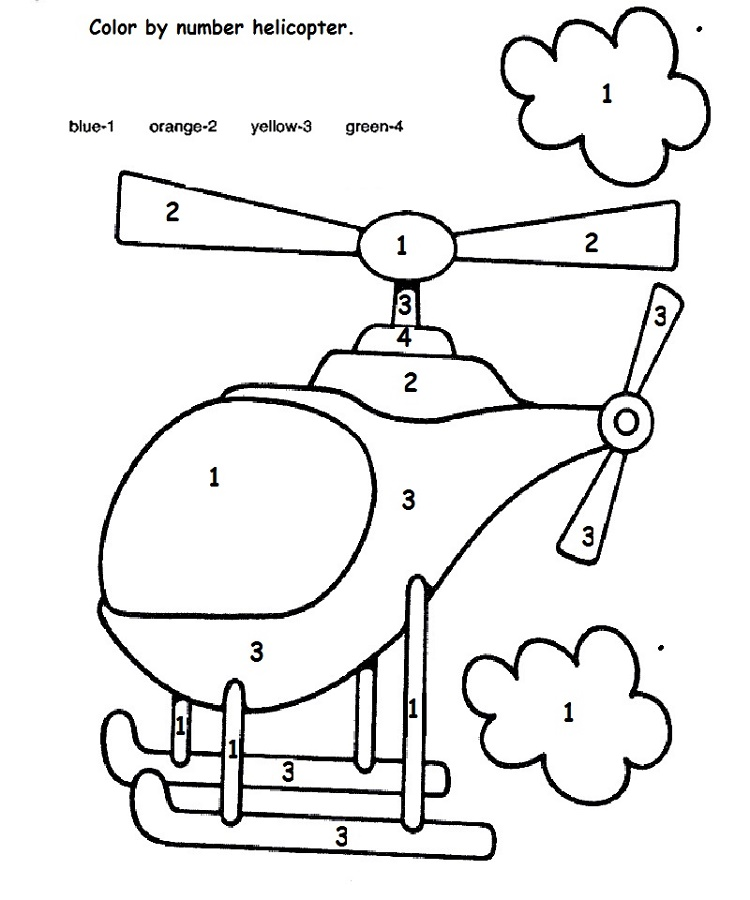 Children's Fun Activity Sheets Color By Number