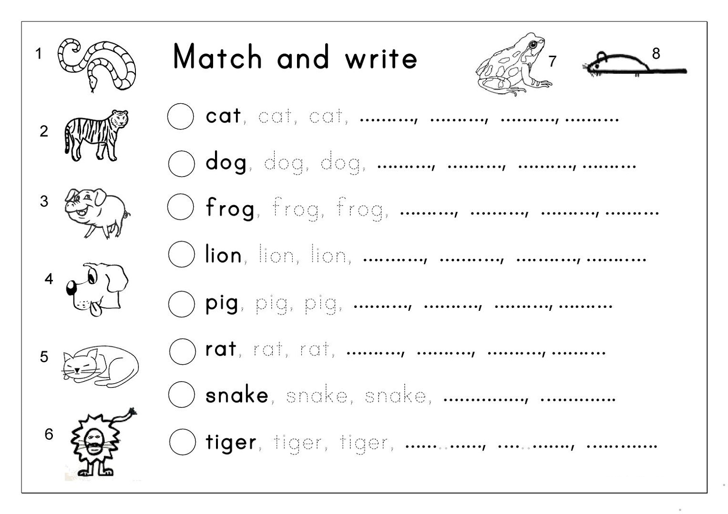 Children's Workbooks Free Writing