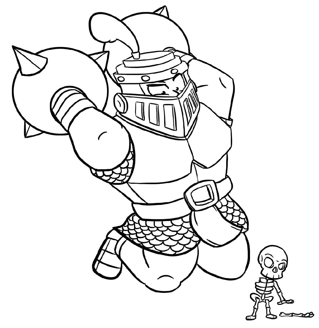 Clash Royale Coloring Pages Elektro Wizard
