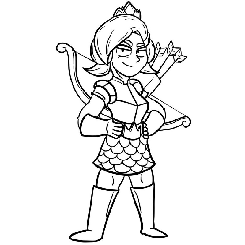 Clash Royale Coloring Pages Princess