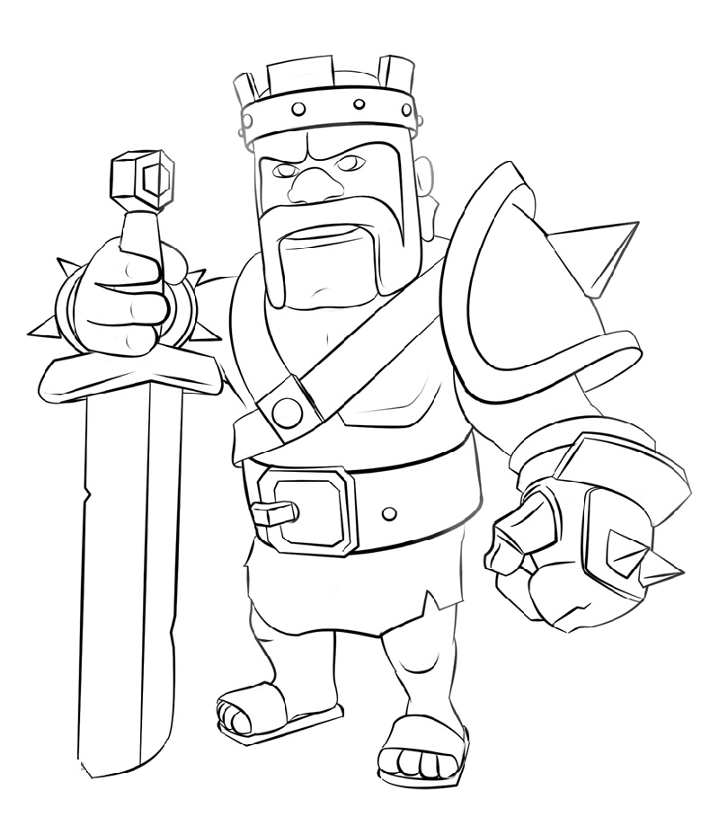 Clash Royale Coloring Pages Sparky