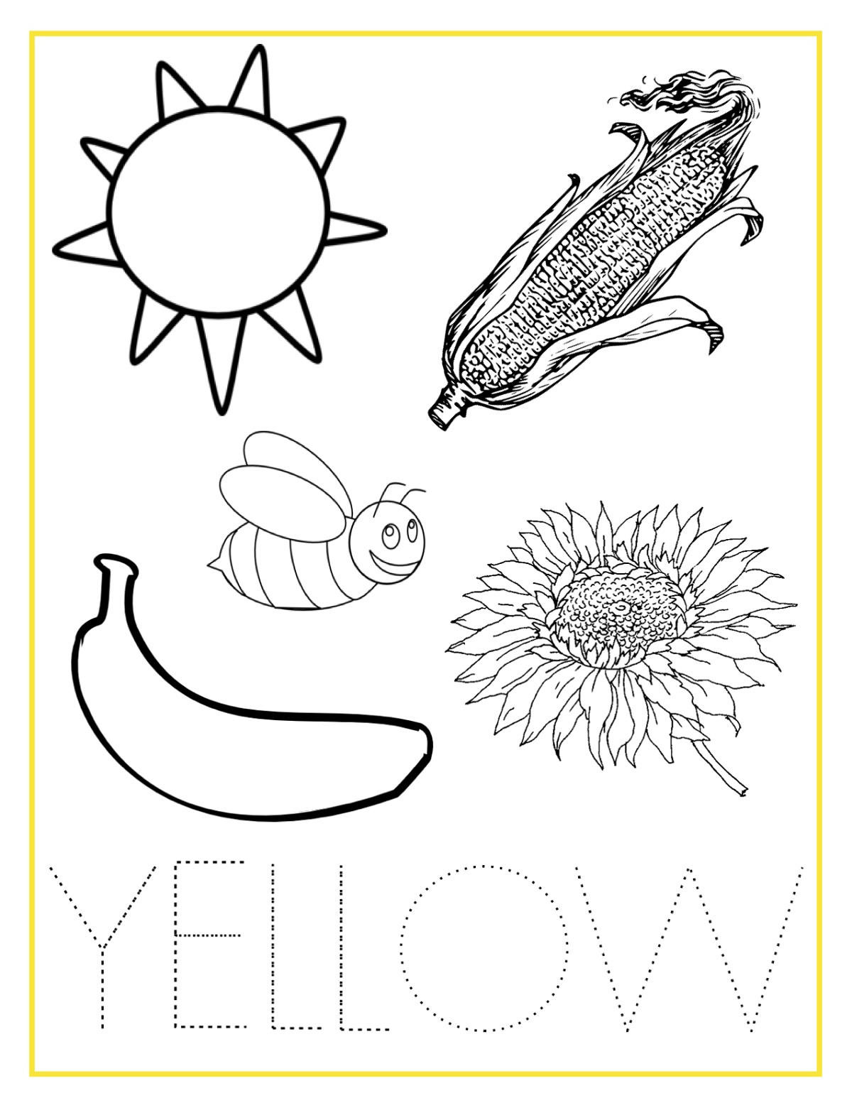 Coloring Activities Yellow