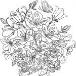 Coloring Pages Of Flowers And Butterflies To Print