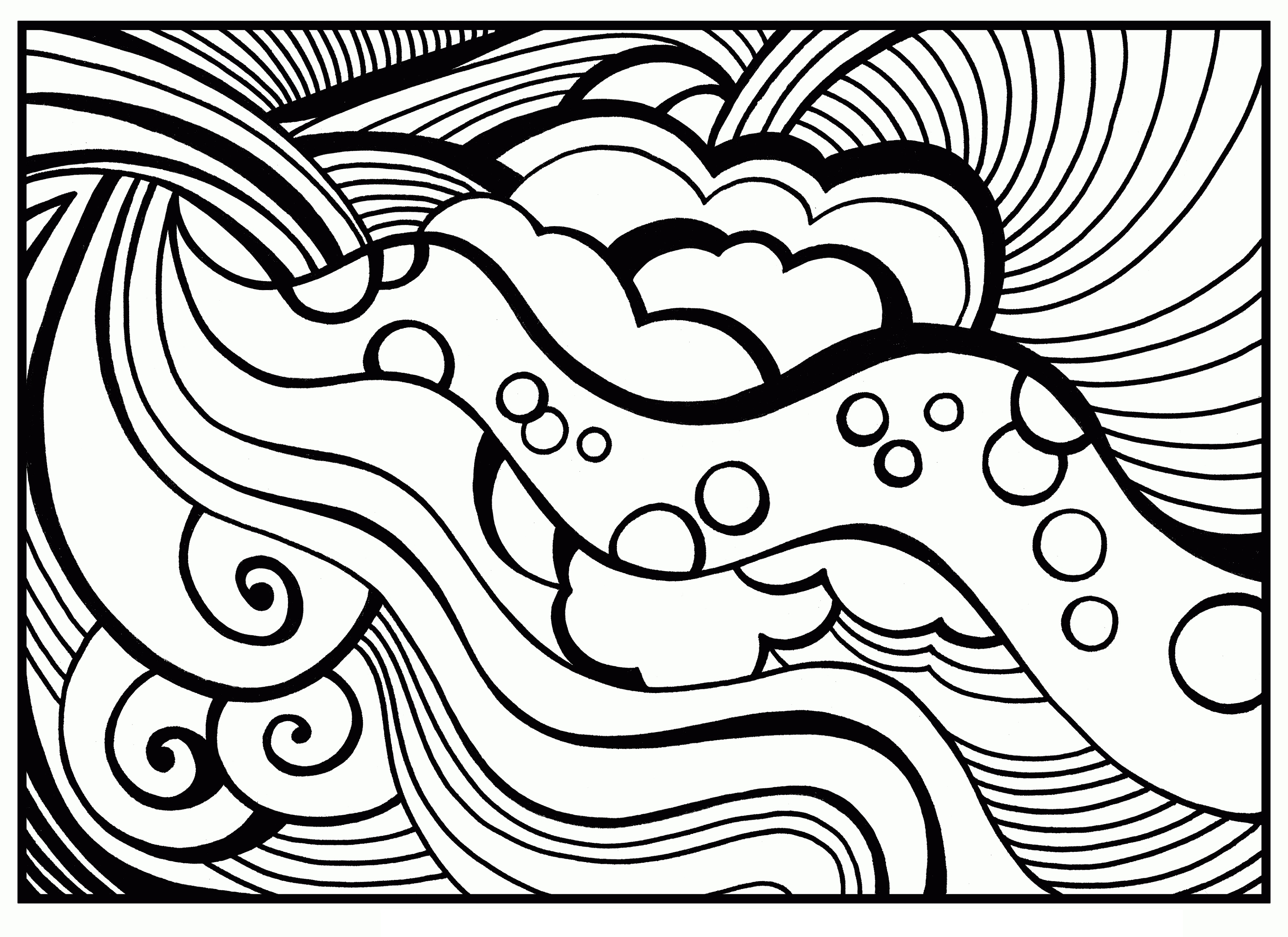 Coloring Pages for Teens Abstract