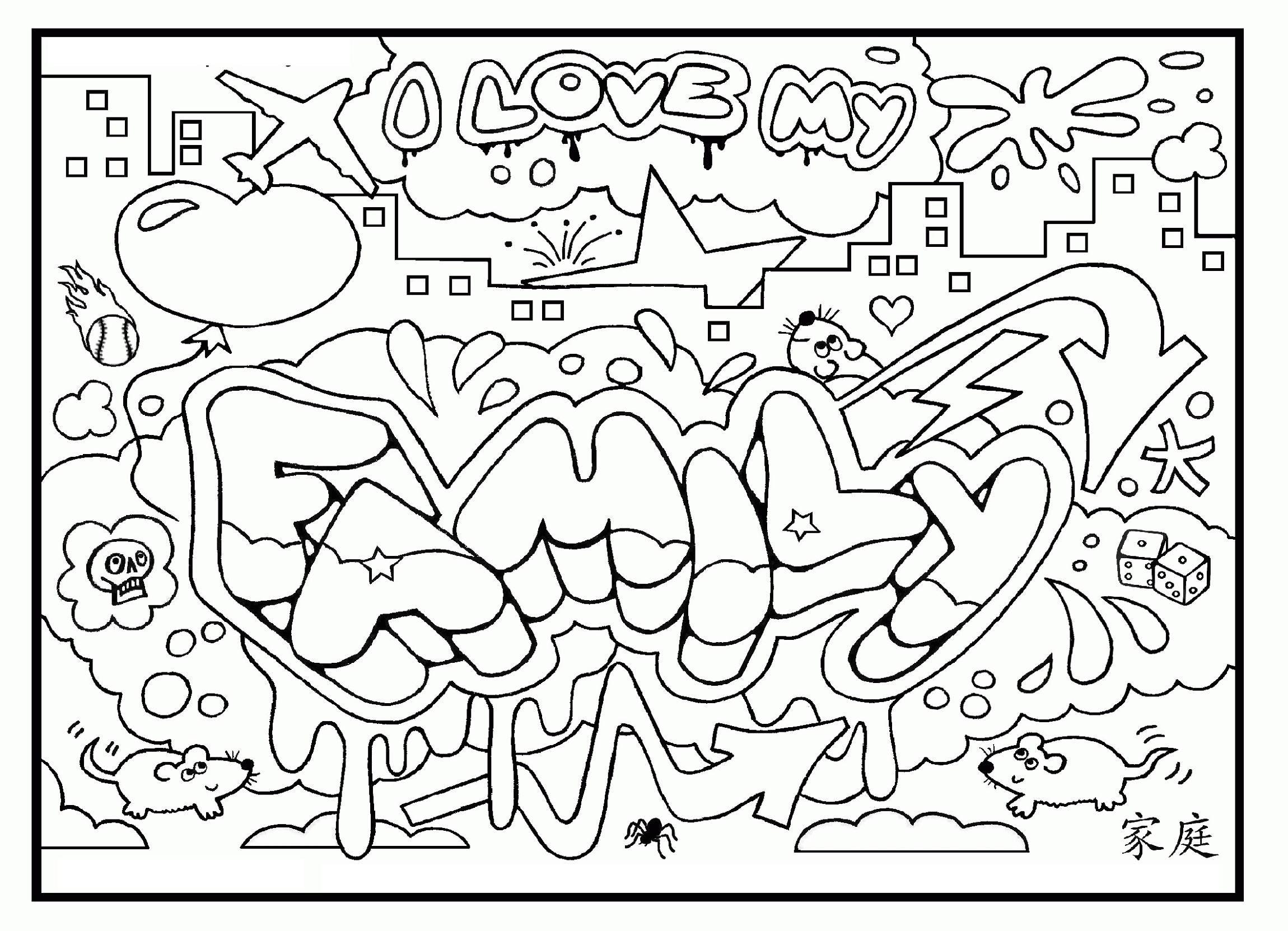 Coloring Pages for Teens Graffiti