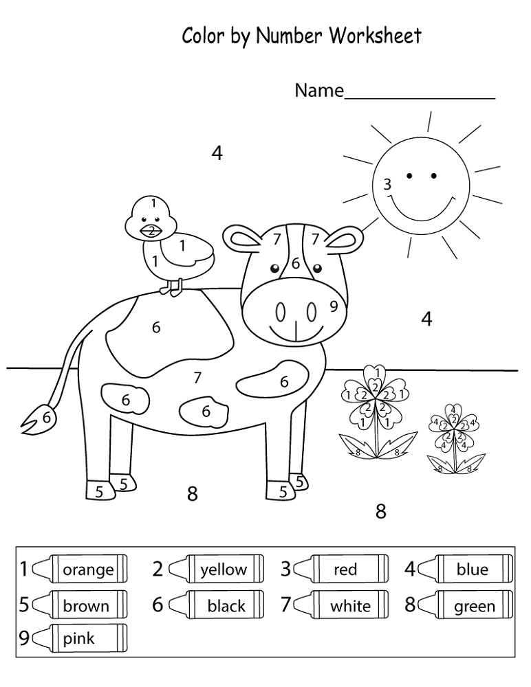 Colors Worksheets For Preschoolers Free Printables By Number