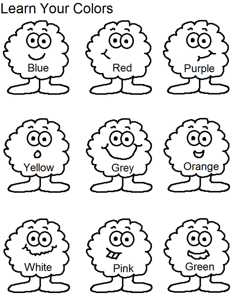 Colors Worksheets For Preschoolers Free Printables Name