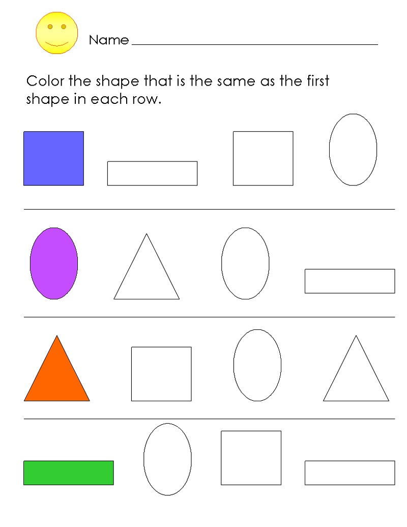 Colors Worksheets For Preschoolers Free Printables Shape