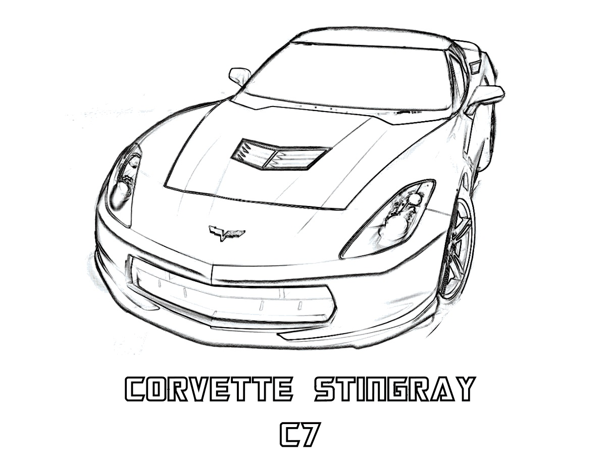 Corvette Coloring Pages For Kids