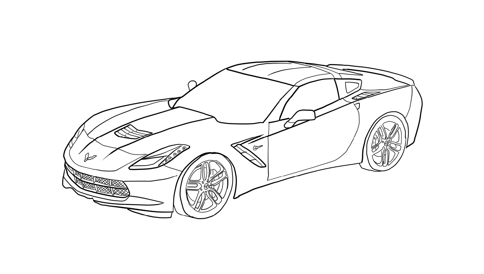 Corvette Coloring Pages Free