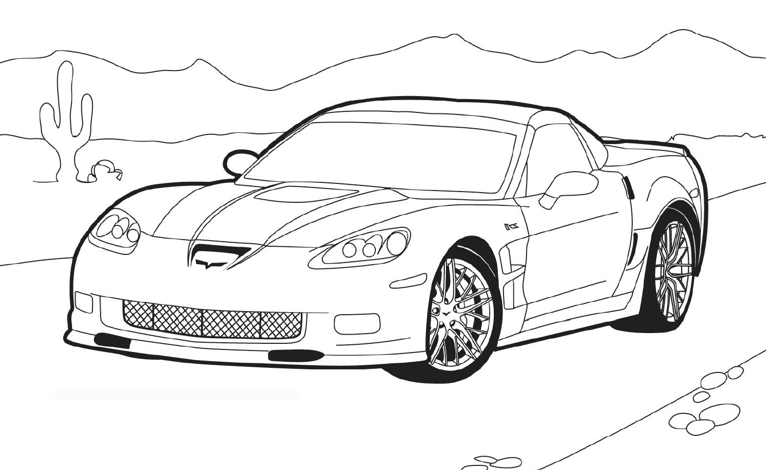 Corvette Coloring Pages Printable