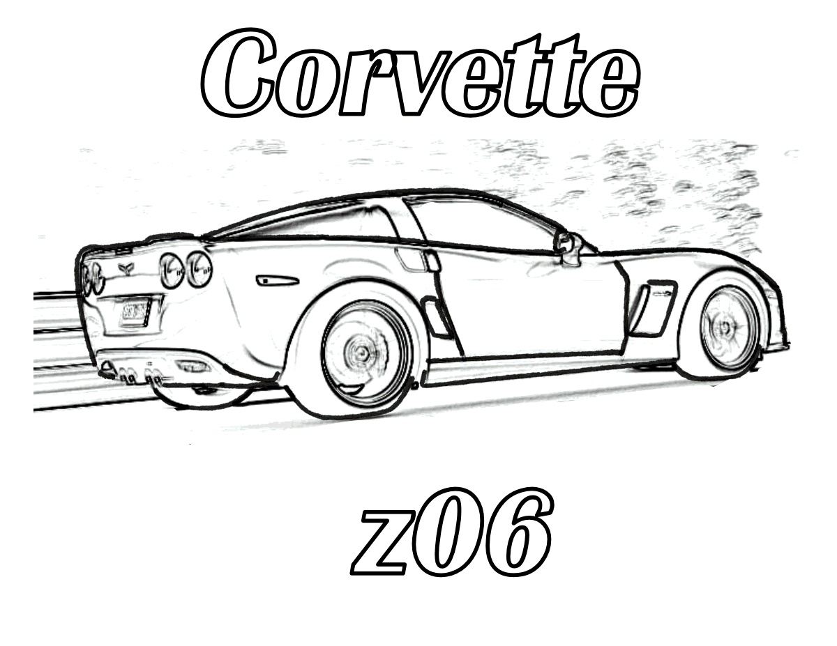 Corvette Coloring Pages To Print
