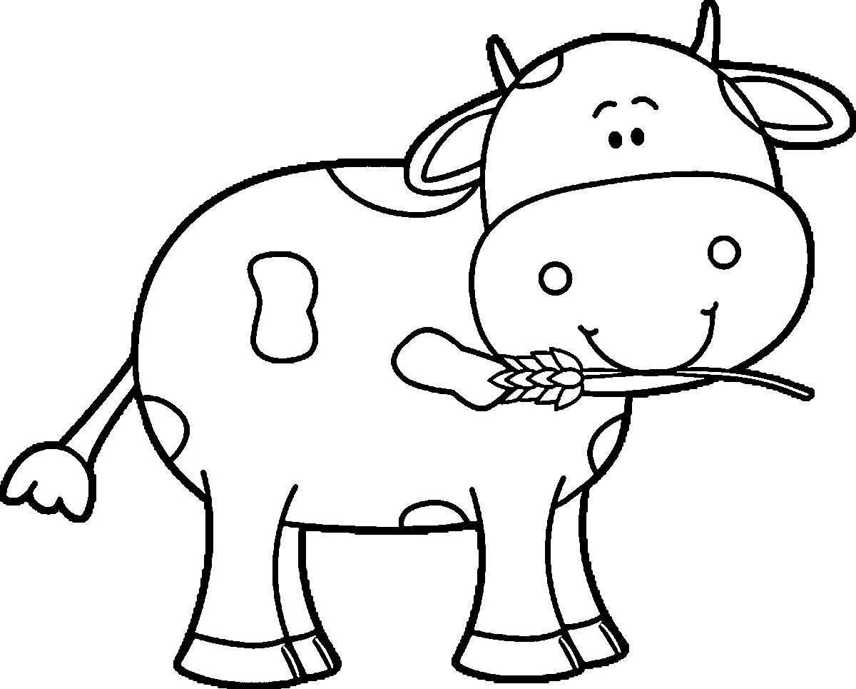 Cow Coloring Pages Cute