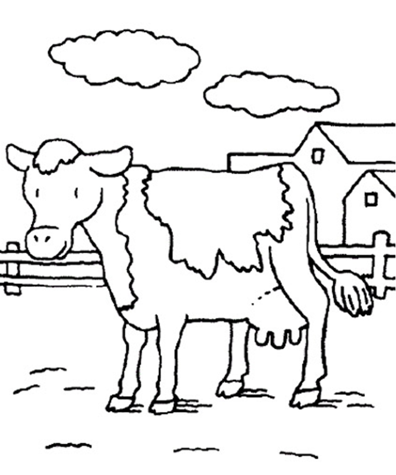 Cow Coloring Pages To Print
