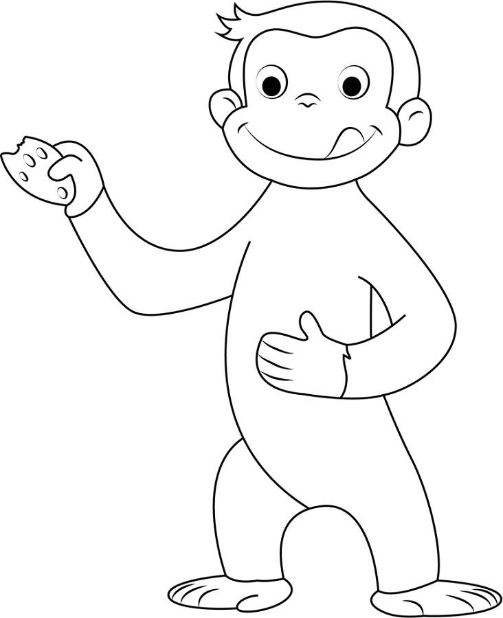 Curious George Coloring Pages George