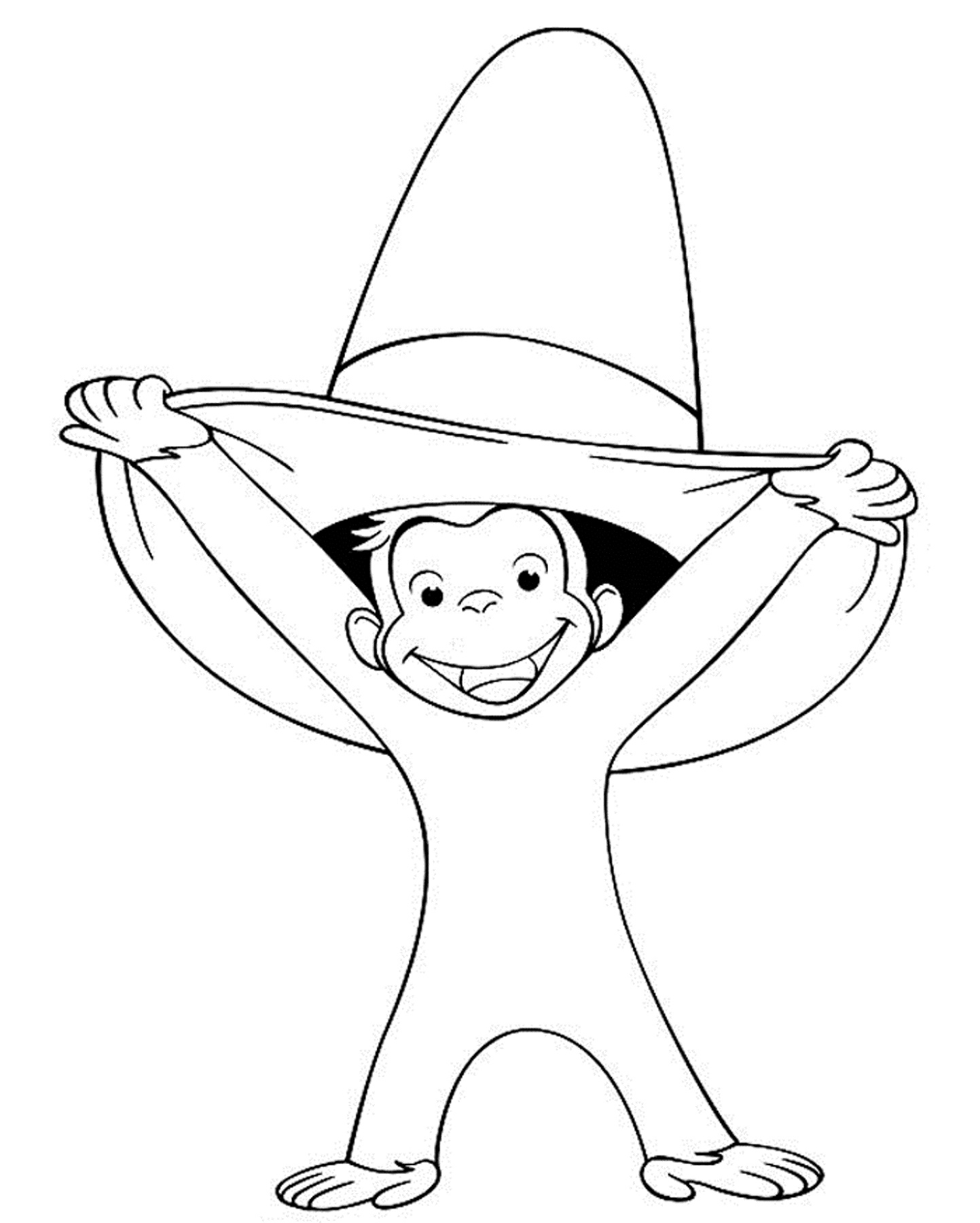 Curious George Coloring Pages Printable