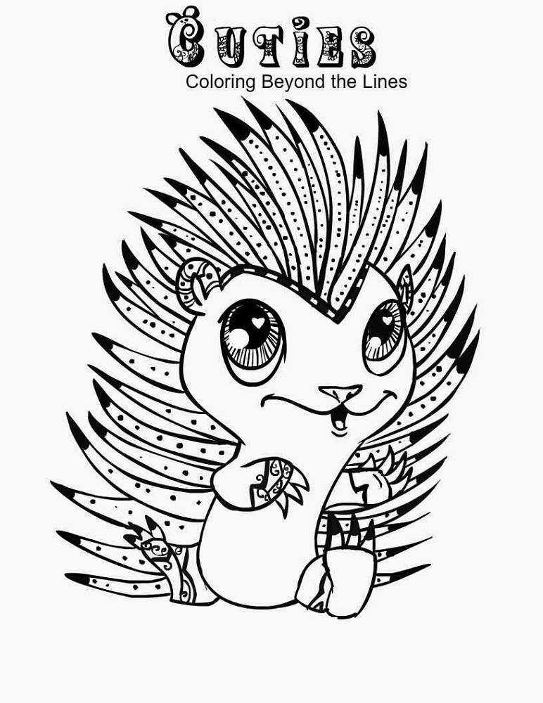 Cuties Coloring Pages Hedgehog