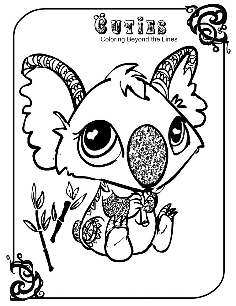 Cuties Coloring Pages Koala