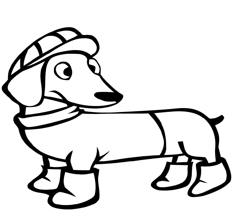 Dachshund Coloring Pages For Kids
