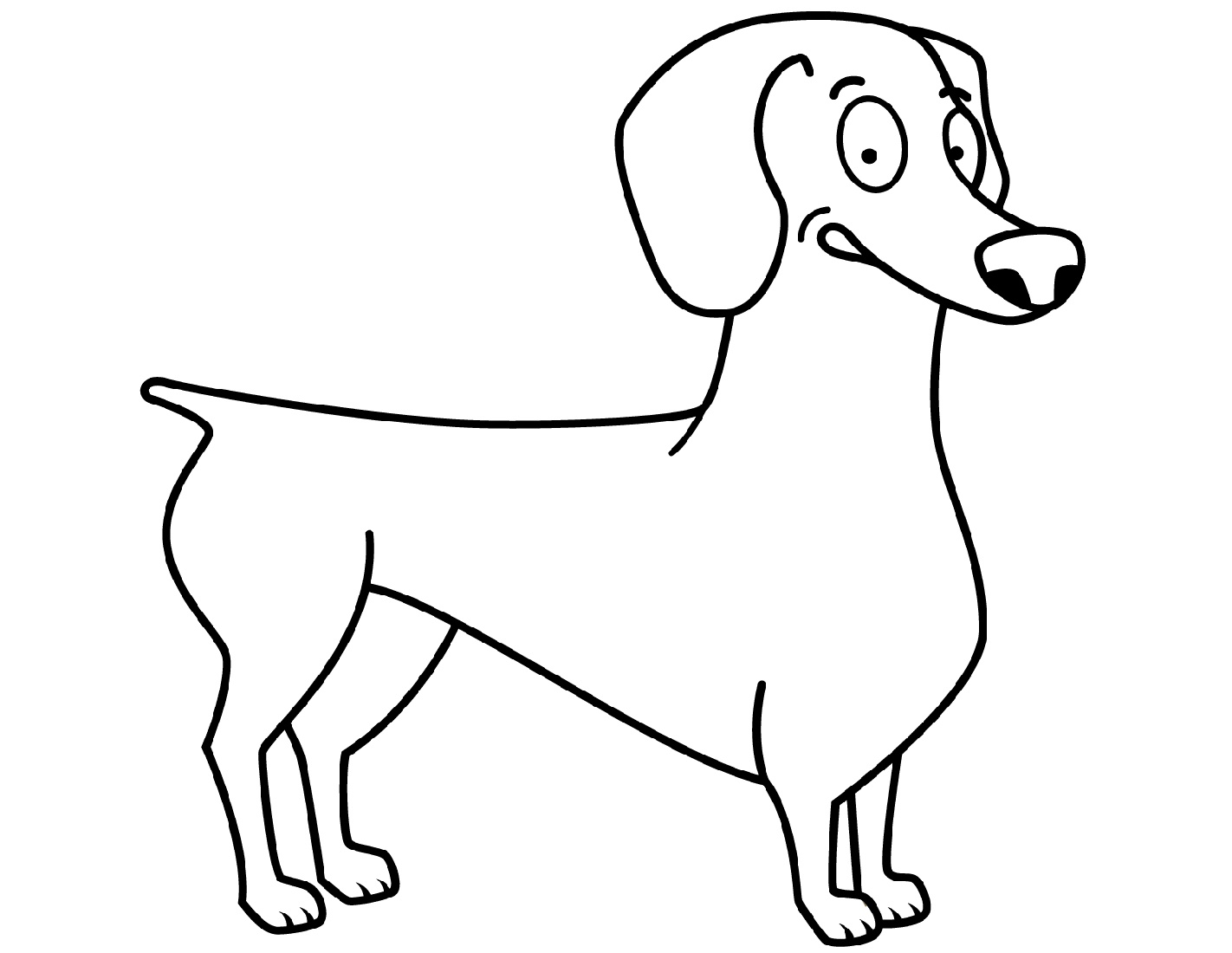 Dachshund Coloring Pages Funny
