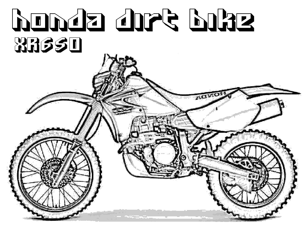 Dirt Bike Coloring Pages Free