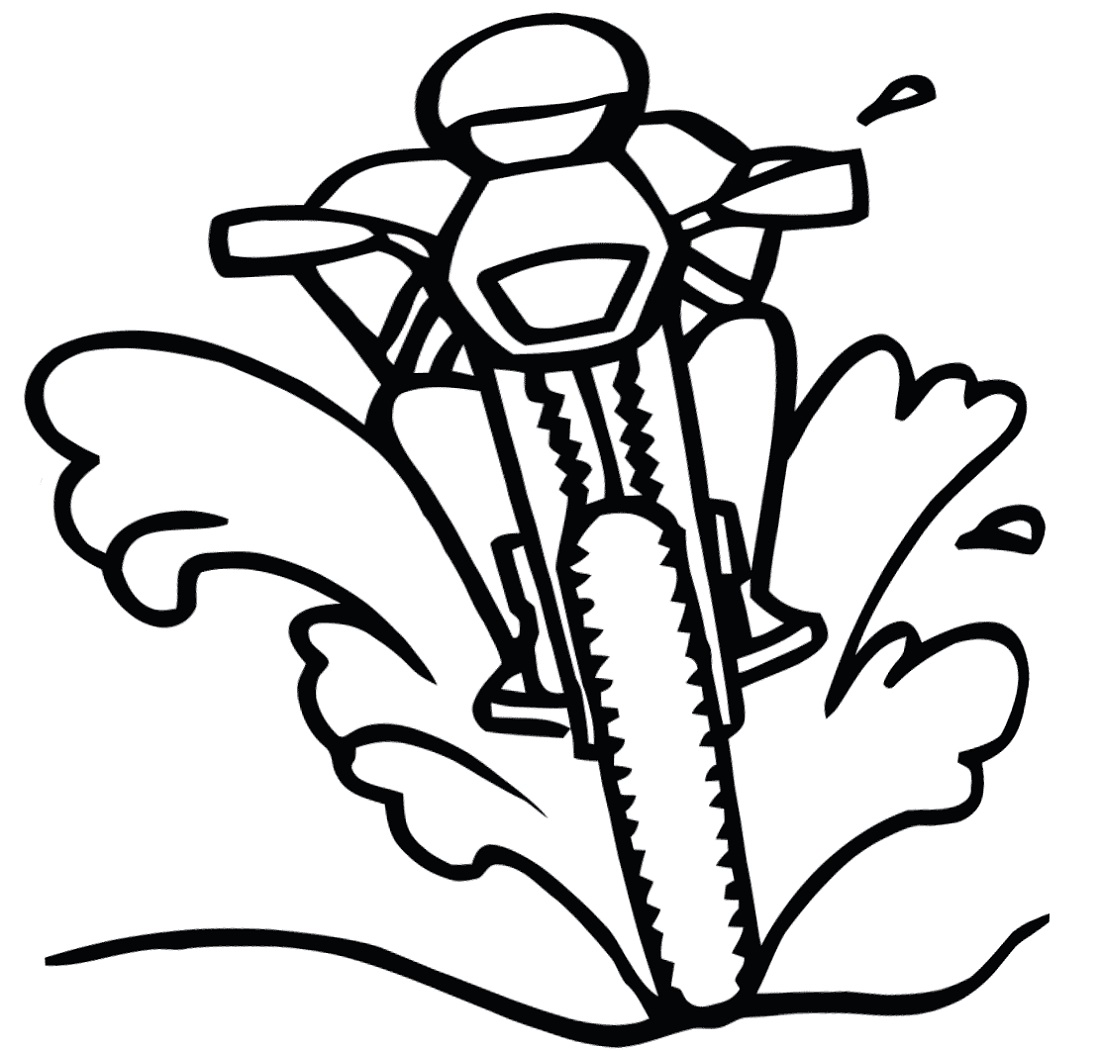 Dirt Bike Coloring Pages Line