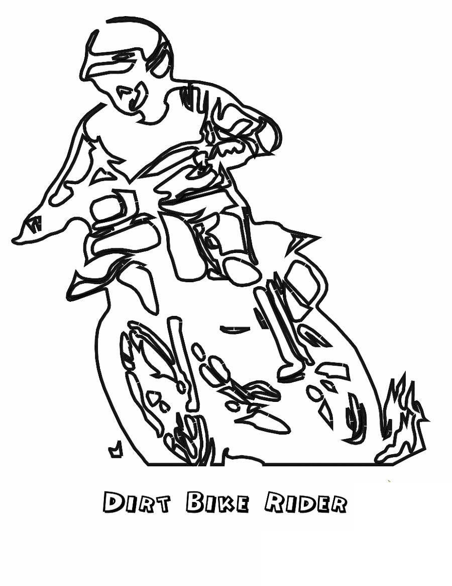 Dirt Bike Coloring Pages Rider