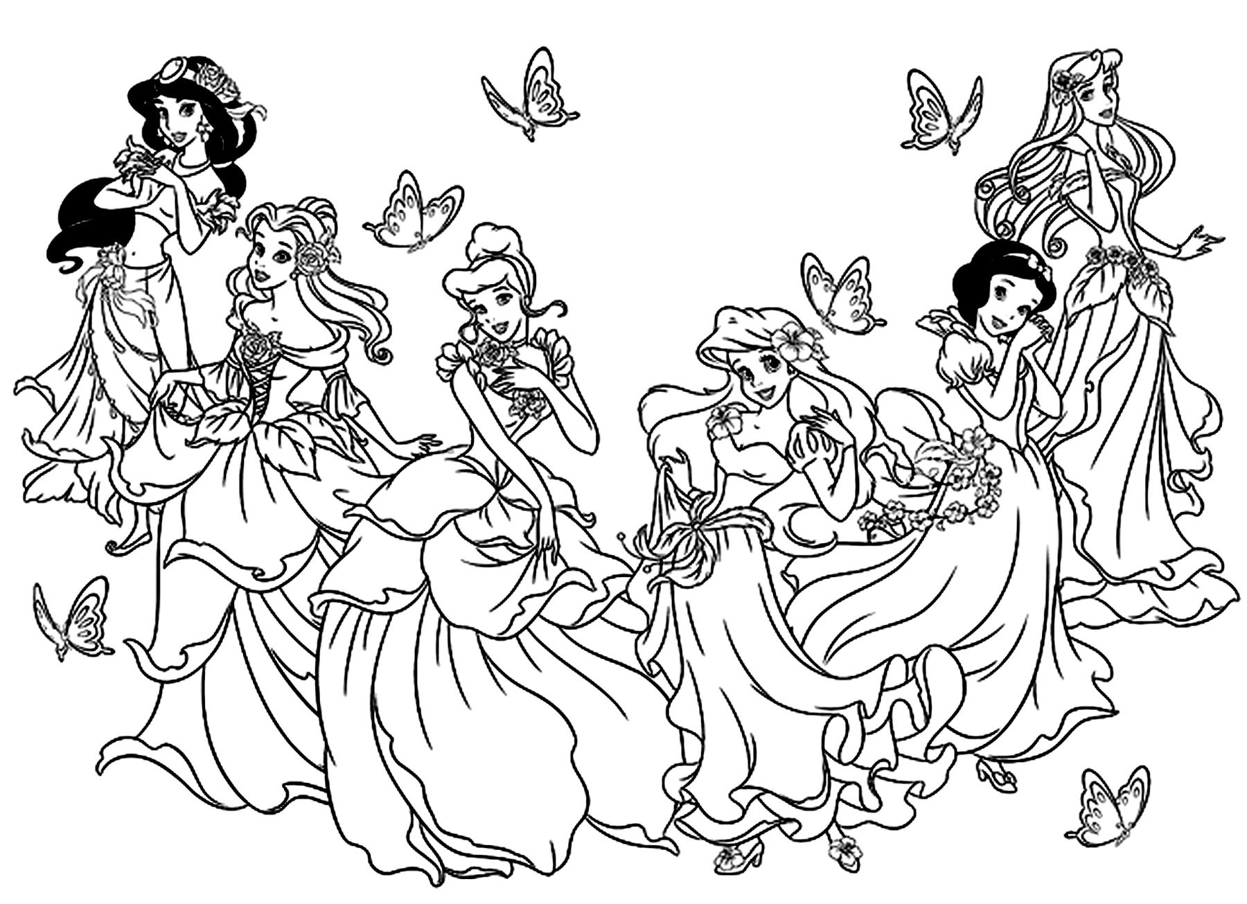 Disney Coloring Pages All Princess