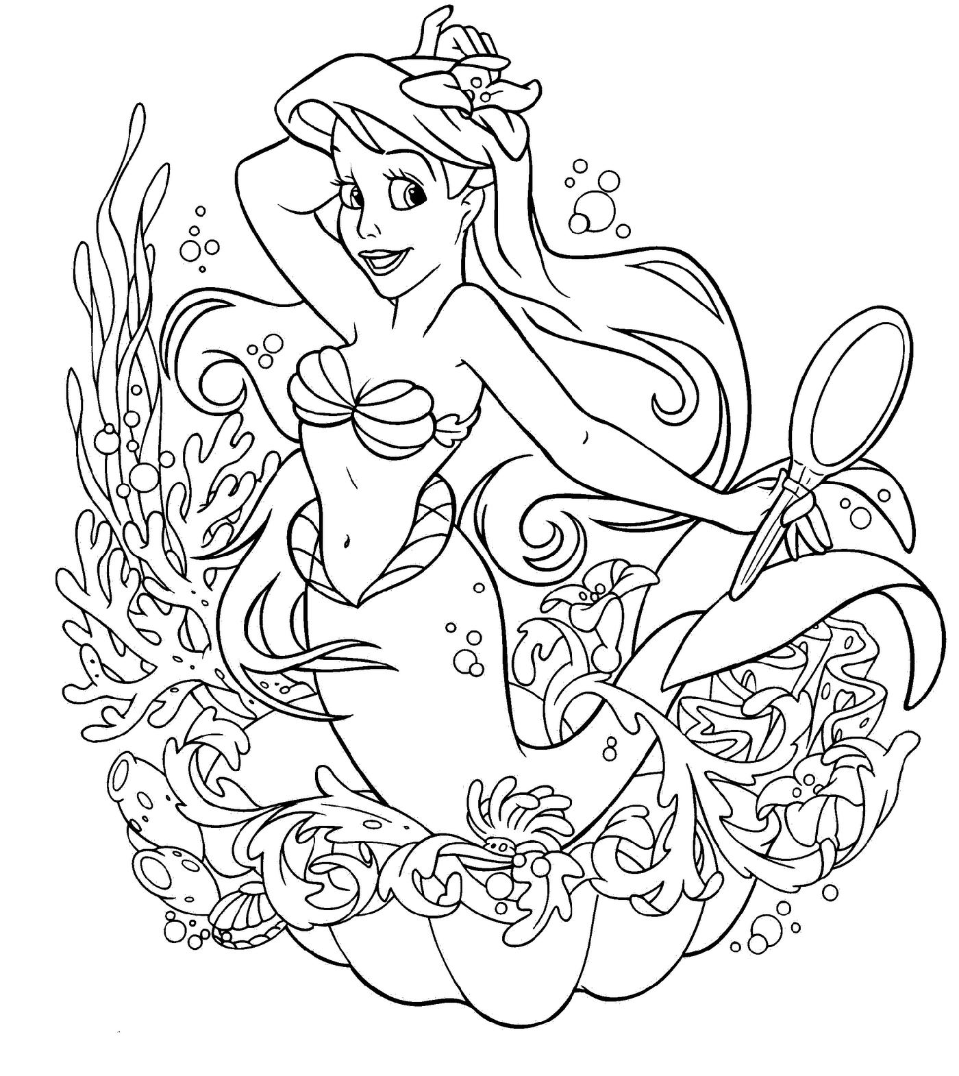 Disney Coloring Pages Ariel