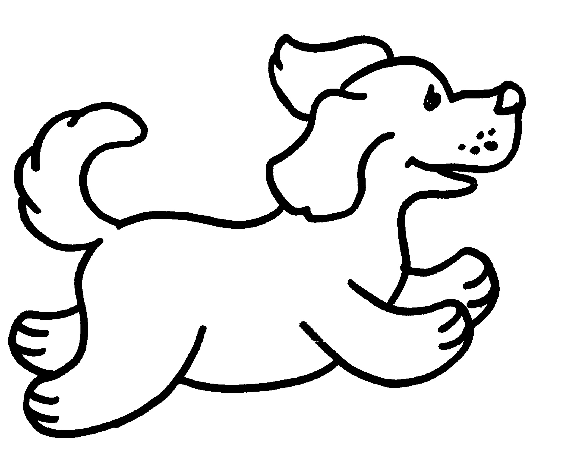 Dog Coloring Pages For Preschooler
