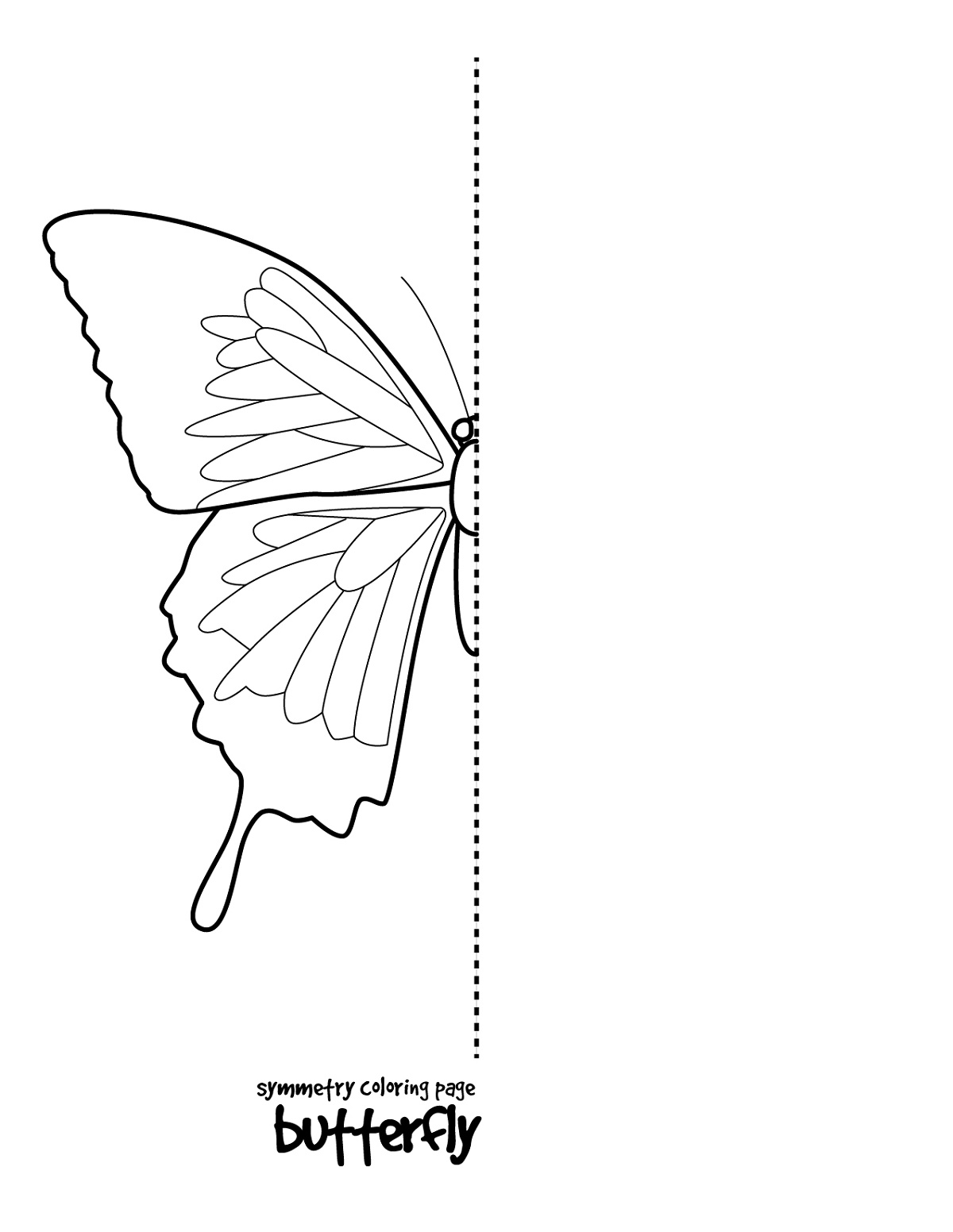 Drawing Sheets for Kids Butterfly