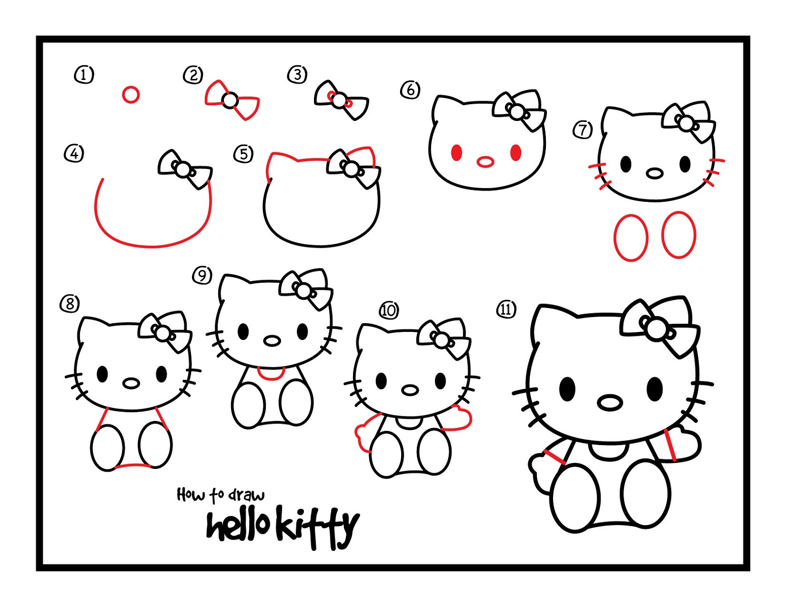 Drawing Sheets for Kids Hello Kitty