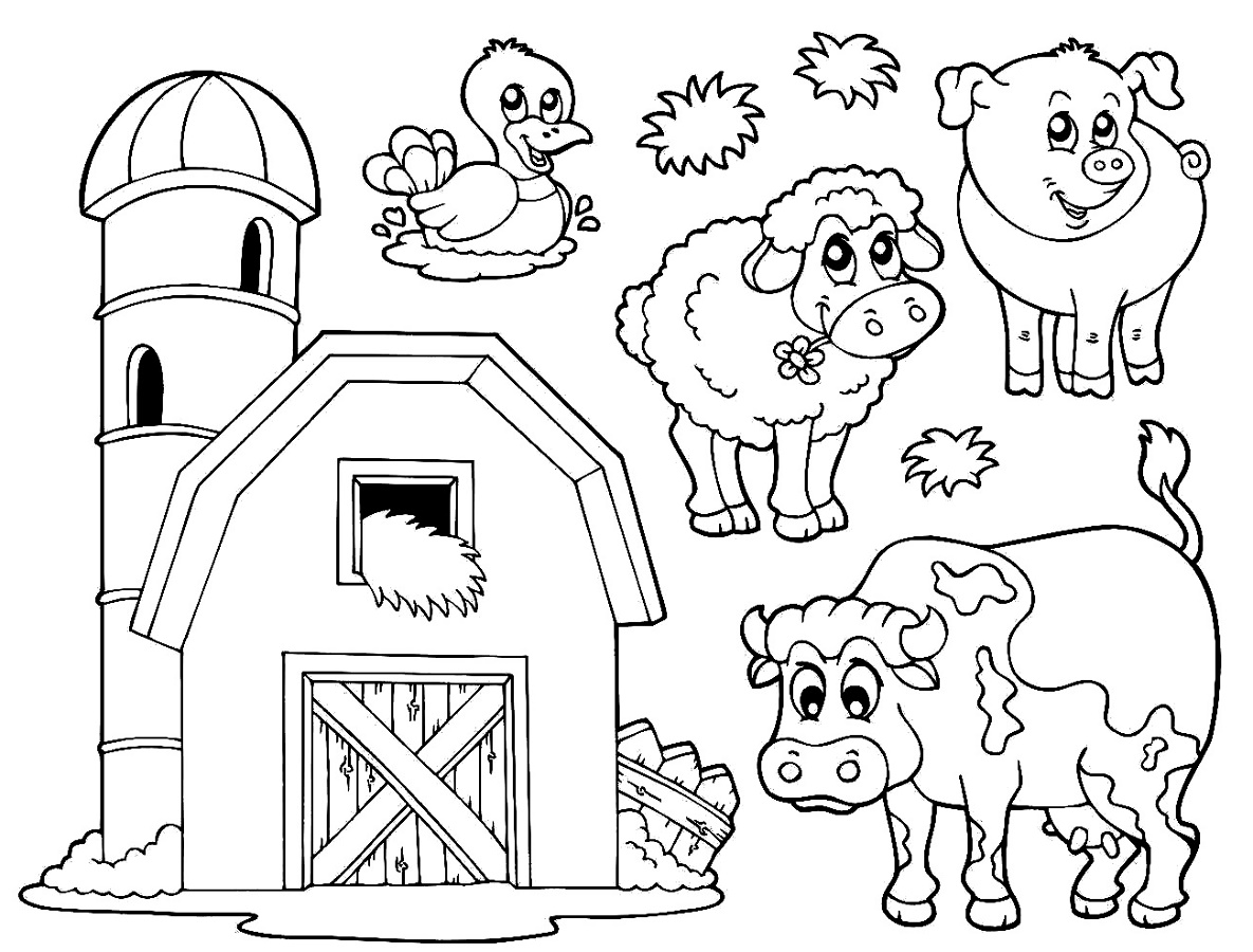 Farm-Coloring-Pages-Animal